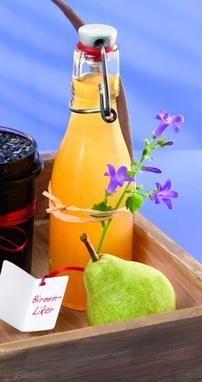 Ein fruchtiger Likör mit Birnen und Wodka für jede Feier