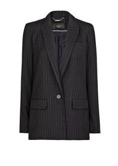 Mango pinstripe navy blazer