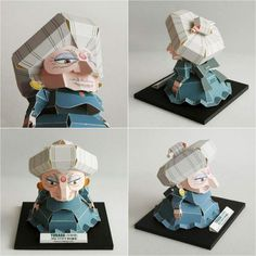 Yubaba papercraft by Zicondesign