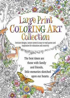 Large Print Coloring Art