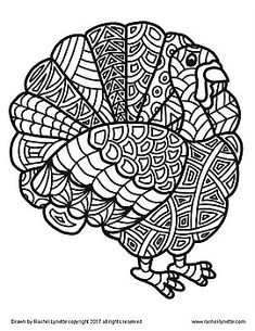 Turkeys to Color! Great for Thanksgiving or. by Rachel Lynette Thanksgiving Classroom Activities, Free Thanksgiving Printables, Thanksgiving Coloring Pages, Thanksgiving Crafts, Activities For Teens, Autumn Activities, Thanksgiving Pictures To Color, First Grade Art, Holiday Crafts For Kids