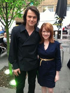 @RichelleMead : For #tbt: me and @KozlovskyD on the VA movie set in July 2013. [30 October 2014]