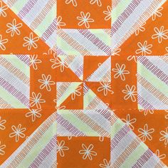 Block 2 - Disappearing pinwheel quilt sampler