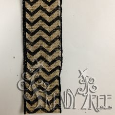 Burlap and Chevron wire edge ribbon #trendytree #chevron #burlap
