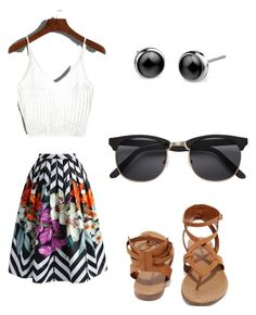 """"""""""" by rachavez on Polyvore featuring Chicwish and Breckelle's"""