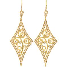 Annie Fensterstock Diamond Shape Earrings $5,173 MARISSACOLLECTIONS.COM