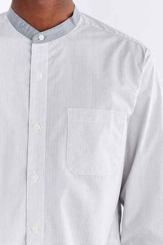 Shades Of Grey By Micah Cohen Poplin Button-Down Shirt - Urban Outfitters
