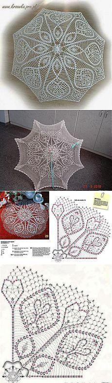 Вязаный крючком зонтик Filet Crochet, Crochet Doilies, Knit Crochet, Historical Clothing, Crochet Projects, Projects To Try, Crochet Patterns, Crafty, Knitting