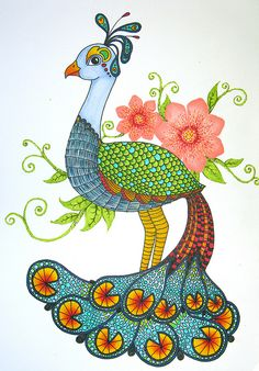 Peacockadoodle by doodler.♥, via Flickr