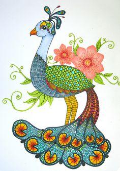 Peacockadoodle by doodler.♥, via Flickr