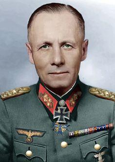 "Erwin Rommel aka ""The Desert Fox"" Military Looks, Military Art, History Of Germany, Army History, Erwin Rommel, Field Marshal, Germany Ww2, Afrika Korps, World War I"