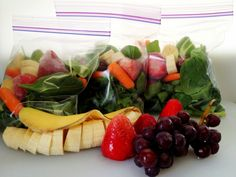 Here is an example of a 3 day meal prep for green smoothies: 2 cups spinach, 1/2 sliced banana, 4 strawberries, 1/4 cup grapes, 1/4 cup carrots. Add all in Ziploc bags and freeze. When ready to blend just add  1 cup of water.