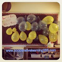 Maybe take your worries and put into the balloon and pop it. End That Test With a Bang! Before state testing each student is given a balloon to write their name on it. At the end of the testing window, we take them down and pop them! Too Cool For School, School Fun, School Stuff, School Ideas, Just In Case, Just For You, School Classroom, Classroom Ideas, Test Day