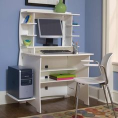 Small Modern Computer Desk illustration of 4 recommended desks with printer storage | office