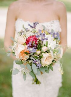 Photo: Rebecca Yale Portraits; Rustic-Chic Outdoor New York Wedding at The Hill from Rebecca Yale Portraits - bridal bouquet