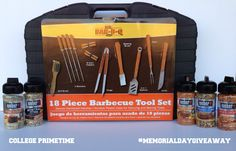 We are giving one of our fans a 18 piece Barbecue Tool Set and Weber Spice Set for our Memorial Day Giveaway! Share to enter and use hashtag #MemorialDayGiveaway !