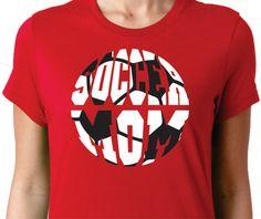 Soccer Mom, Soccer shirt, Soccer t-shirt, Soccer Mom Shirt on Etsy, $15.00