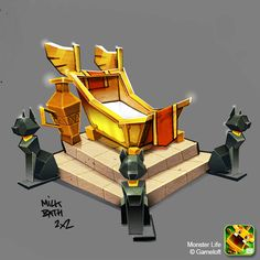 Monster Life - Egypt - Milk Bath by joslin.deviantart.com on @deviantART