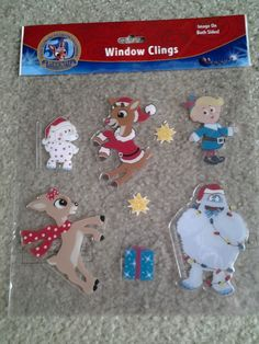 50th ANNIV RUDOLPH BUMBLE & ISLAND MISFIT TOYS WINDOW CLINGS CHRISTMAS DECOR
