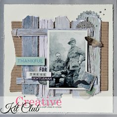 Learn how to make beautiful hertiage scrapbooking pages with the Creative Kit Club - step by step instructions are included