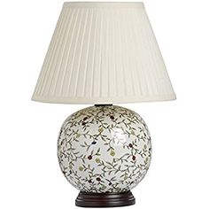 Large Patterned Ceramic Table Lamp (H14180) - Vintage Style Perfect for All Living Rooms & Bedrooms - Superb Quality