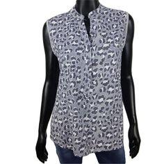 Mouwloze katoenen blouse met panter print in grijs  20-  #Beverwijk #Heemskerk #IJmuiden #Velsen #happy #fashion #follow #cute #followme #like #instacool #nofilter #style #sweet #fashionable #hot  #webshop #fashioncheque #vvv #nieuwecollectie