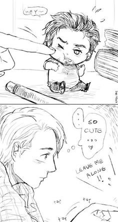 I'll never ever ship Stony...but the little Tony is so cute i couldn't not to repin this. *.*