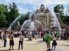 Fuente Baños de Diana en los Jardines de la Granja en Segovia