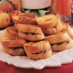 This French Toast, stuffed with Swiss cheese and sausage, is a favorite recipe of our family.