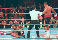 Oliver McCall knocked out Lennox Lewis to win the Heavyweight Championship of the World.