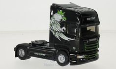 Scania Streamline TL, schwarz/Dekor, King of The Road, Eligor - Modelo de coche - Model Car World Pasta, King, Car, Trucks, Cars, Scale Model Cars, Automobile, Noodles