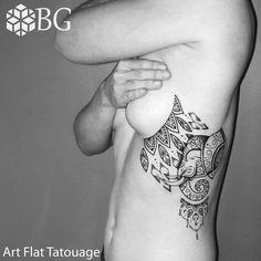 Tattoo mandala éléphant