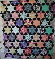 Starbright Quilt top by Nela Barrow