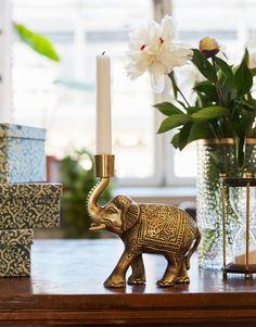 ELEPHANT CANDLE HOLDER Lysestake | Lys & Lykter | Indiska.com