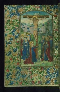 Book of Hours Crucifixion Walters Manuscript W.184 fol. 15v by Walters Art Museum Illuminated Manuscripts