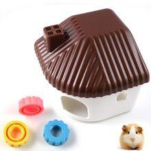 Os residentes quarto pequenos animais hamster areia hamster de estimação de plástico sala de banho gaiola de hamster frete grátis(China (Mainland))