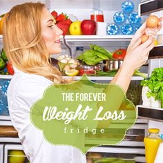 If you want to lose weight and keep it off then you need The Weight Loss Fridge! #weightloss #kitchentips