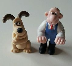 Vintage 1989 Wallace and Gromit Mini-Collectables Figure Set B - A Close Shave