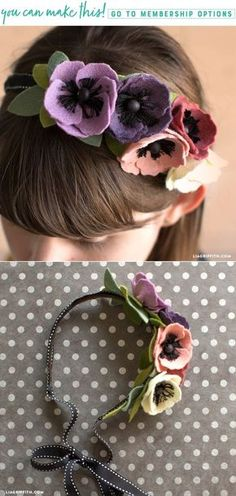 Make a DIY felt flower crown with this easy video tutorial - Lia Griffith - www.liagriffith.com #felt #feltcute #feltcrafts #flowercrown #diyidea #diyideas #diyproject #diyprojects #diyinspiration #madewithlia
