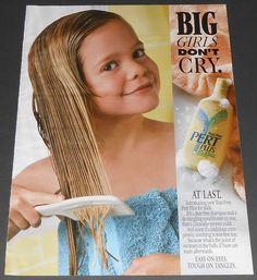 1992 vintage ad - PERT PLUS FOR KIDS - LITTLE GIRL SHAMPOO - 1-PAGE PRINT ADVERT #PertShampoo
