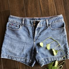 42aec1b7f5bd Tommy Hilfiger jean shorts size 8. Waistband measures 17.5