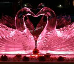 Don't miss to visit our website, if you are looking for unique ice sculpture machines that will produce high quality crystal clear ice creations. Great Business Ideas, Ice Molds, Ice Sculptures, San Valentino, Saving Ideas, Swans, Gallery, Unique, Opportunity