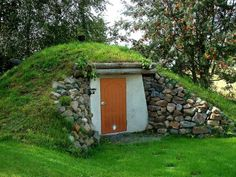 We had a  root cellar on the farm to keep vegtables and preservered food cool and dry. In the winter we would ski off it.