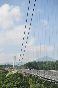 Will be walking across this in a few weekends time! Ouvrages D'art, Stuff To Do, Things To Do, Oita, Kyushu, Suspension Bridge, The Other Side, Beautiful Space, Japan Travel