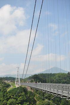 """Kokonoe """"Yume"""" Grand Suspension Bridge #japan #oita"""