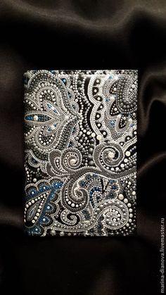 """Обложка для документов """"Русское серебро"""". Handmade."""
