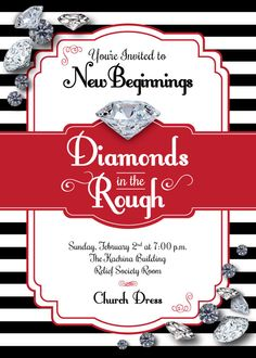 diamonds in the rough black and white new by JoyfulPrintables