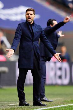 Manager of Tottenham Hotspur Mauricio Pochettino, reacts on the. Arsenal Fc, Tottenham Hotspur, Tottenham Football, Mauricio Pochettino, Wembley Stadium, Premier League Matches, London United, London England, United Kingdom