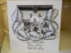Fairytale Daydream by Sandie Gough: Monochrome secret garden...Inkylicious, Graph'it markers, Card-io stamps and UTEE in the melt pot