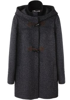 chevron duffle coat. i don't need you but i want you.